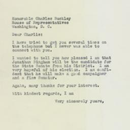 Letter : 1958 May 6