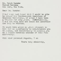Letter : 1960 June 13