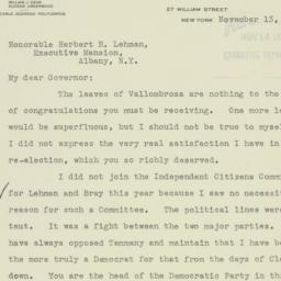 Letter : 1934 November 13