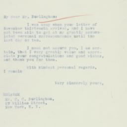 Letter : 1934 November 30