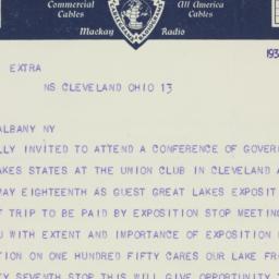 Telegram : 1936 May 14