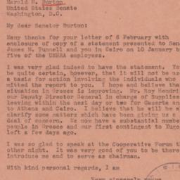 Letter: 1945 February 13