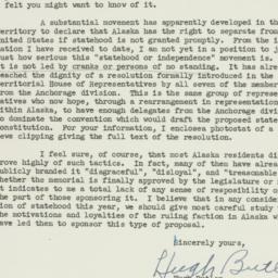 Letter : 1951 February 17