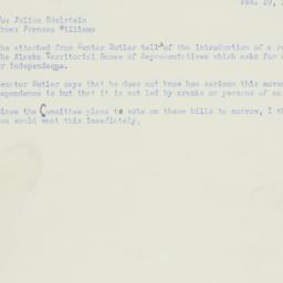 Memorandum : 1951 February 19