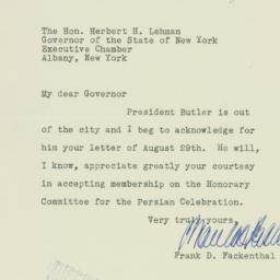 Letter : 1934 August 31
