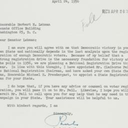 Letter: 1956 April 24