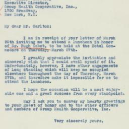 Letter : 1941 March 21