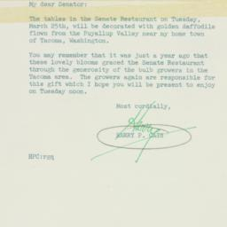 Letter : 1952 March 22