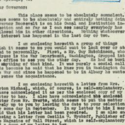 Letter : 1930 July 18