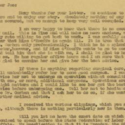 Letter : 1930 August 1