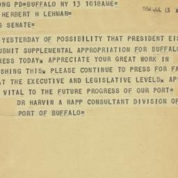 Telegram : 1954 July 13