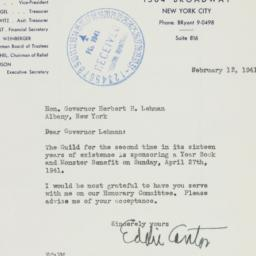 Letter : 1941 February 13