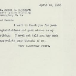 Letter: 1953 April 15