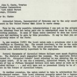 Letter: 1954 March 1