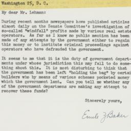 Letter: 1954 July 20