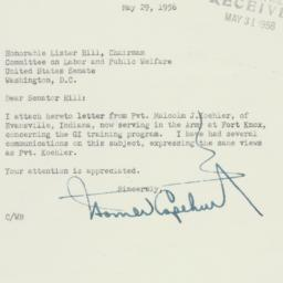 Letter: 1956 May 29