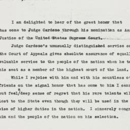 Press release : 1932 Februa...
