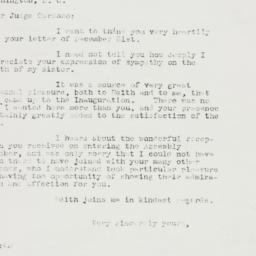 Letter : 1933 January 5