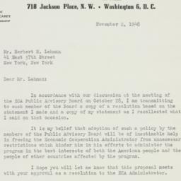 Letter : 1948 November 2