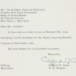 Letter : 1958 November 3