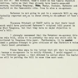 Memorandum : 1953 February 6