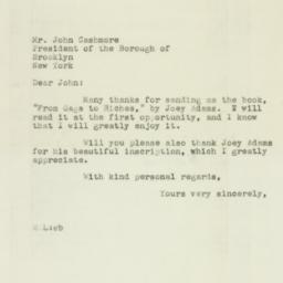 Letter : 1946 November 7