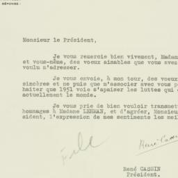 Letter : 1951 January 4