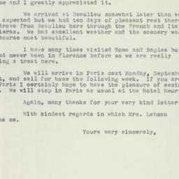 Letter: 1953 September 16