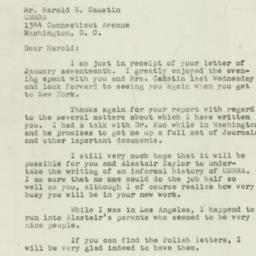 Letter : 1947 January 20