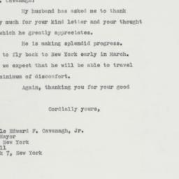 Letter : 1963 February 19