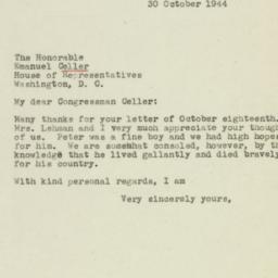 Letter: 1944 October 30