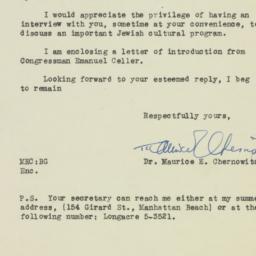 Letter: 1946 August 23