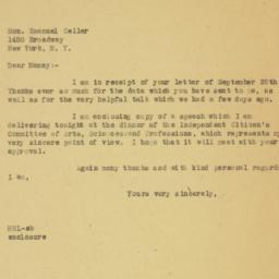 Letter : 1946 September 30