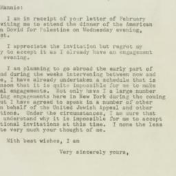 Letter : 1948 February 17