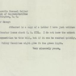 Letter: 1950 December 6