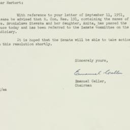 Letter: 1952 February 19