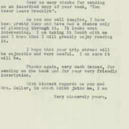 Letter : 1953 November 10
