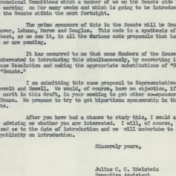 Letter: 1954 May 1