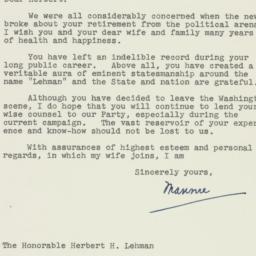 Letter : 1956 September 14