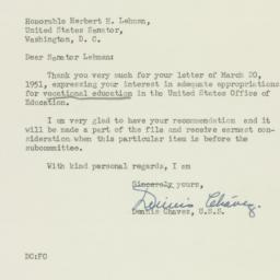 Letter : 1951 March 24