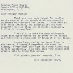 Letter : 1958 May 21