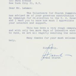 Letter : 1962 November 3