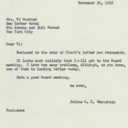Letter : 1956 November 30