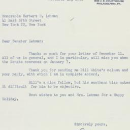Letter : 1958 December 16