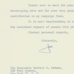 Letter : 1962 November 4