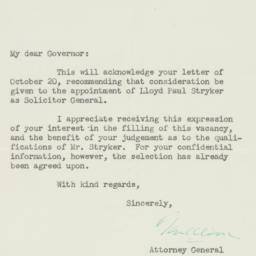 Letter : 1946 November 5