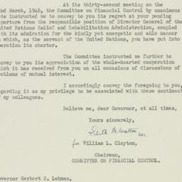 Letter: 1946 March 27