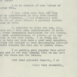 Letter: 1954 October 22