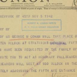 Telegram : 1942 November 5