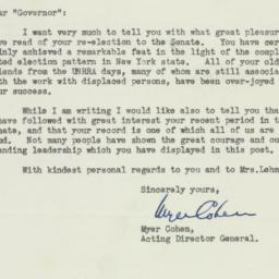 Letter : 1950 November 11
